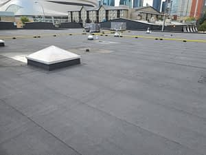 Commercial flat roof completed in Edmonton