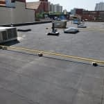 2 Ply SBS flat roof replacement at the Attia building in Edmonton