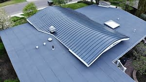 low slope residential roof in Edmonton