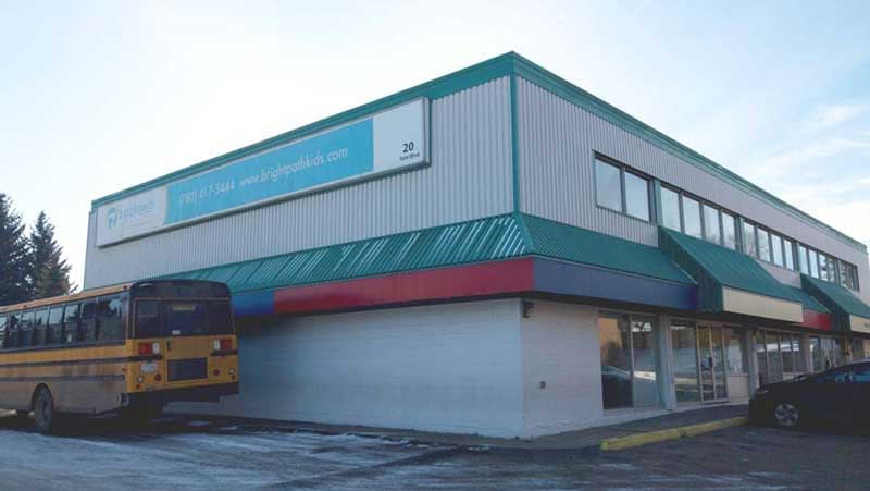 Commercial flat roof Brightpath Early Learning School Sherwood Park