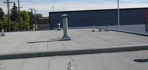 Commercial flat roof in replacement for Cash Canada in Edmonton