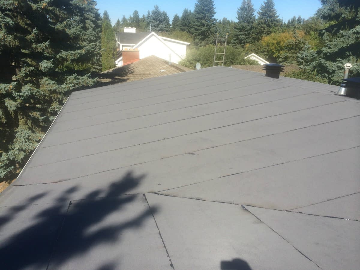 Residential Low Slope Roof in Edmonton